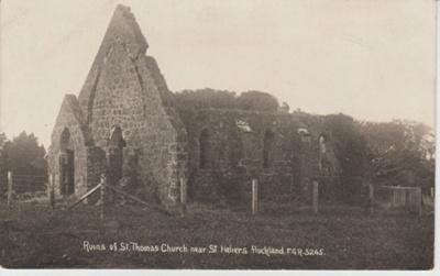 St Thomas' Church in ruins; Duncan, Frank; 1910?; 2018.293.41