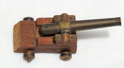 Model of Cannon Gun; Col Robert Bole Morrow; O2018.69