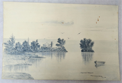 Pen and ink sketch by Col A Morrow 'Deep Creek' Ta...