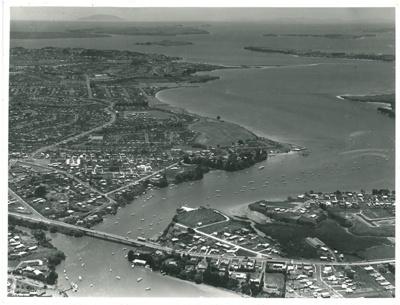Tamaki River and inlet, Waitemata Harbour; Whites Aviation; 27/11/1964; 2017.254.10