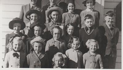 Pakuranga Methodist Sunday School pupils; 1941; 2018.289.34