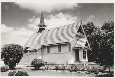 Howick Presbyterian Church in Uxbridge Road.; Campbell, Keith; 1956; 2018.252.03