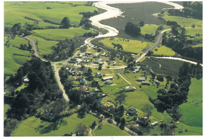 Aerial photo of Whitford, 1990; Bielby, H; 1990; 2017.079.18