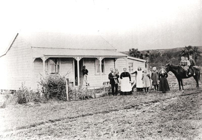Brindle Family, Clevedon, Auckland. c. late Victor...
