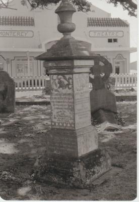 The Trust family's grave in All Saints Church cemetery; La Roche, Alan; 1/03/1991; 2018.217.81