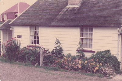 Briody-McDaniel's cottage, previously McDermott's, at the Howick Historical Village. Restoration complete.; November 1981; P2020.98.25