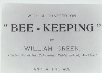 B ee-keeping by William Green.; Roberts, Gordon; 2019.021.01
