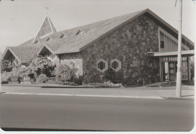 The new Our Lady Star of the Sea Catholic Church from Picton Street; La Roche, Alan; 1991; 2018.248.01