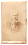 Carte de Visite of bust of unknown man with beard. ; NELSON BROTHERS, photo studio; 2010.98.1