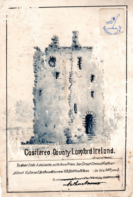 A pen and ink drawing entitled Castlerea, County ...