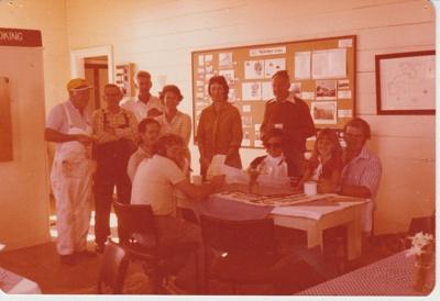Working bee volunteers morning tea at Howick Historical Village.; 1/05/1981; 2019.129.29