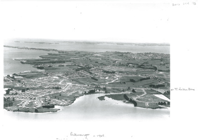 Aerial view of Pakuranga c.1960; Whites Aviation; c1965; 2016.494.96
