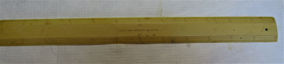Made bone, it is a scale ruler used by Col Arthur ...