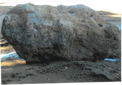 Anchor stone in the Turanga River; La Roche, Alan; 1/12/2010; 2017.078.17