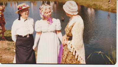 Margaret Willis (right) and two other ladies; 8/03/1980; 2019.100.47