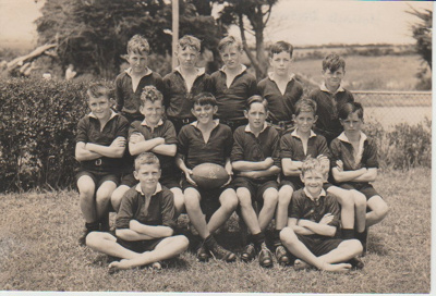 Howick District High School Rugby Football primary B team.; 1946; 2019.072.22