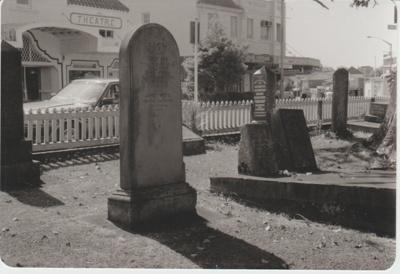 James White's grave in All Saints Church cemetery.; La Roche, Alan; 1/03/1991; 2018.217.86