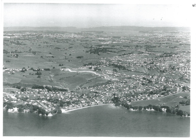 Cockle Bay aerial, c1960; Whites Aviation; c1960; 2017.219.39