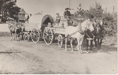John Mattson transfering milk from his farm to his son's wagon; 13/09/1907; 2017.564. 04