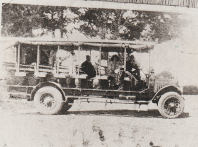 An open sided Crawford's motor bus; c1930; 2017.494.54