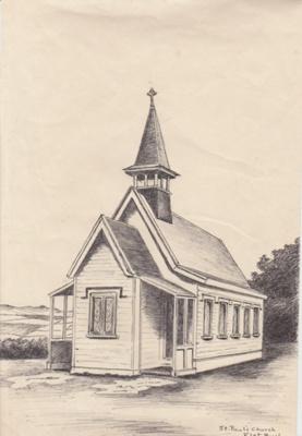 St Paul's Church, Chapel Road Flat Bush 1987; Hattaway, Robert; 19/01/1987; 2018.270.10