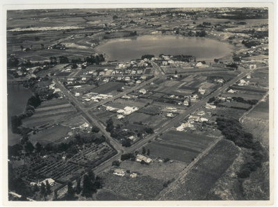 Panmure and Basin, aerial, 1949; Whites Aviation; 9/02/1949; 2017.265.24