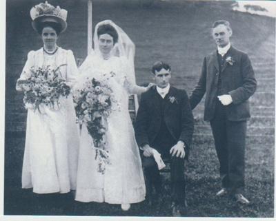 Delia Ann Fitzpatrick and Archibald John Forsman on their wedding day.; 29/04/1908; 2018.340.06