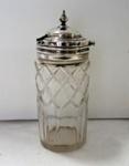 Crystal jar with silver lid