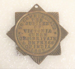 Star badge from military uniform - 1864; O2018.48