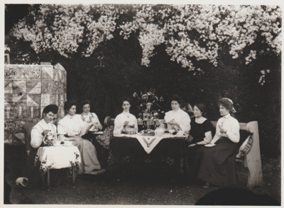 Roberts ladies at tea; c1910; 2018.409.02