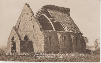 St Thomas' Church in ruins; Wilson, W T; 1910?; 2018.293.40