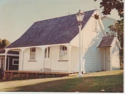 Sergeant Barry's cottage in the Garden of Memories; Groethe. Julia; 1/06/1975; 2019.095.01