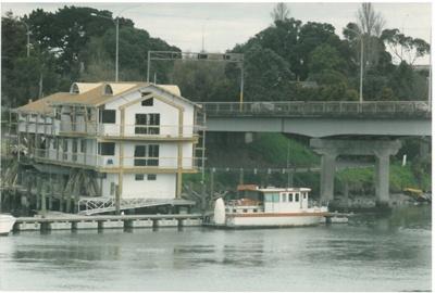 The Panmure Marina shop at Panmure bridge; Eastern Courier; 1993; 2016.462.58