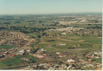 Aerial view of Pakuranga; 1990; 2019.008.01