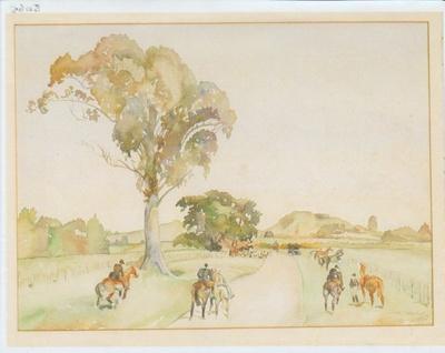 Pakuranga Hunt Painting 1960; Fransham Fay; 1960; 2017.398.65