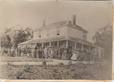 Pakuranga Hunt at Bleak House Homestead.; Redfern, Richard; c1880; 2018.029.03