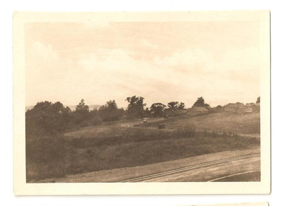 """Photograph: """"View to N. N. E. and showing the estate road faintly thus.""""; Mr Gregory; C. 1950; 00036"""