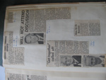 Scrap book of Mr Robert Young of newspaper cuttings from 1960-1963; Mr Robert Young; 1960s; 1987.31.1.