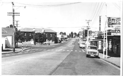 Picton Street, Howick, Marine Hotel to All Saints Church; circa 1965; 1024