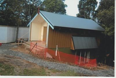 Matarkiki. The Teaching House, Garden of Memories under construction.; La Roche, Alan; 1/04/2011; 2019.090.31