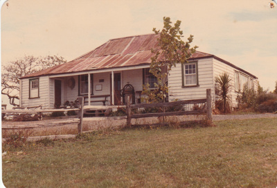 Eckford's homestead in the Howick Historical Village.; La Roche, Alan; March 1983; P2021.08.02