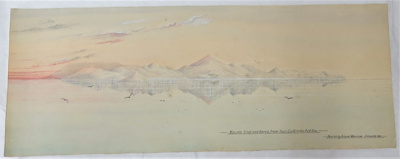 Watercolour painting entitled Mount Sinai and Har...