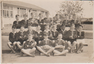 Howick District High School Rugby Football team.; Sloan Photo Service; 1950; 2019.072.06