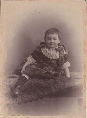 An unnamed boy (probably the Heath family); Dighton, W D, Cardiff; 2018.363.12