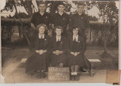 Howick District High School Prefects 1952; Sloan Photo Service; 1952; 2019.074.02