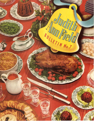 Judith Ann Field Bulletin No. 7; Butland Industries Limited, Auckland; 1950's; Ephemera Box 1 Recipe Books
