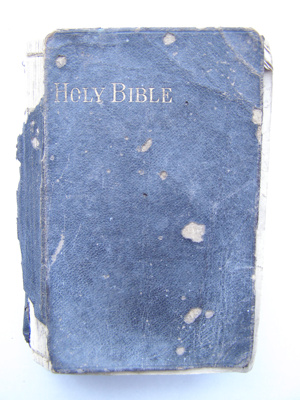 White Family Holy Bible. Black cover with gold typ...