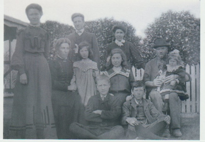Ferguson family in the garden.; c1910; 2018.336.10