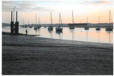 Yachts moored in the Turanga River; La Roche, Alan; 1/10/2010; 2017.214.28