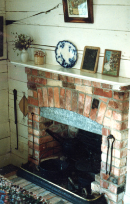 Fireplace in Johnson's Cottage; 1/11/1959; 2017.500.02
